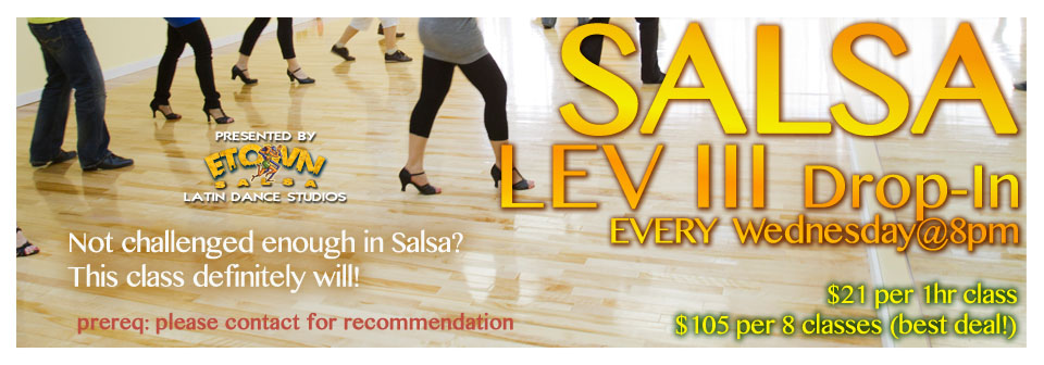 Drop-in Salsa Level 3